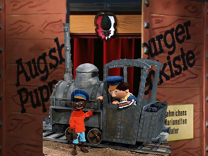 "The"" Augsburger Puppenkiste"" - Jim Knopf and Luke the locomotive driver."
